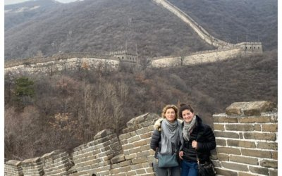 Laura and Aline in China to represent Belgium.
